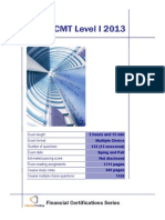 CMT Level I 2013 Summary