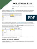 La función AGREGAR en Excel