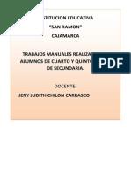Trabajos Manuales 2013-Sr