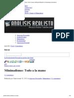 007 Minimalismo_ Todo a la mano _ ANÁLISIS REALISTA _ Productividad y minimalismo