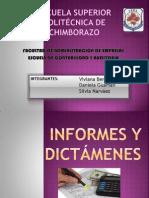INFORMES Y DICTÁMENES