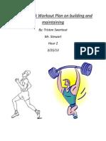 my six week workout plan-gym
