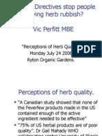 Herb Quality - Vic Perfitt