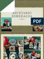 Recetario Tampico Esmeralda 2013
