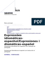 Expressões Español