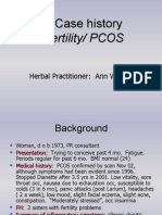 Case History - PCOS+Infertility - Ann Walker
