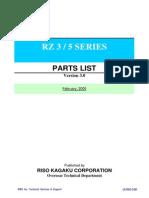 RZ3 Parts Manual