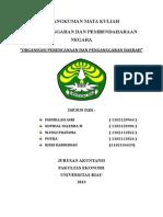 Organisasi Perencanaan Dan Penganggaran Daerah
