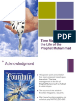 Time Managment in the Life of the Prophet Muhammad