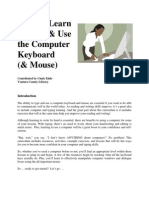Life Long Learn to Type-use Computer Keyboard