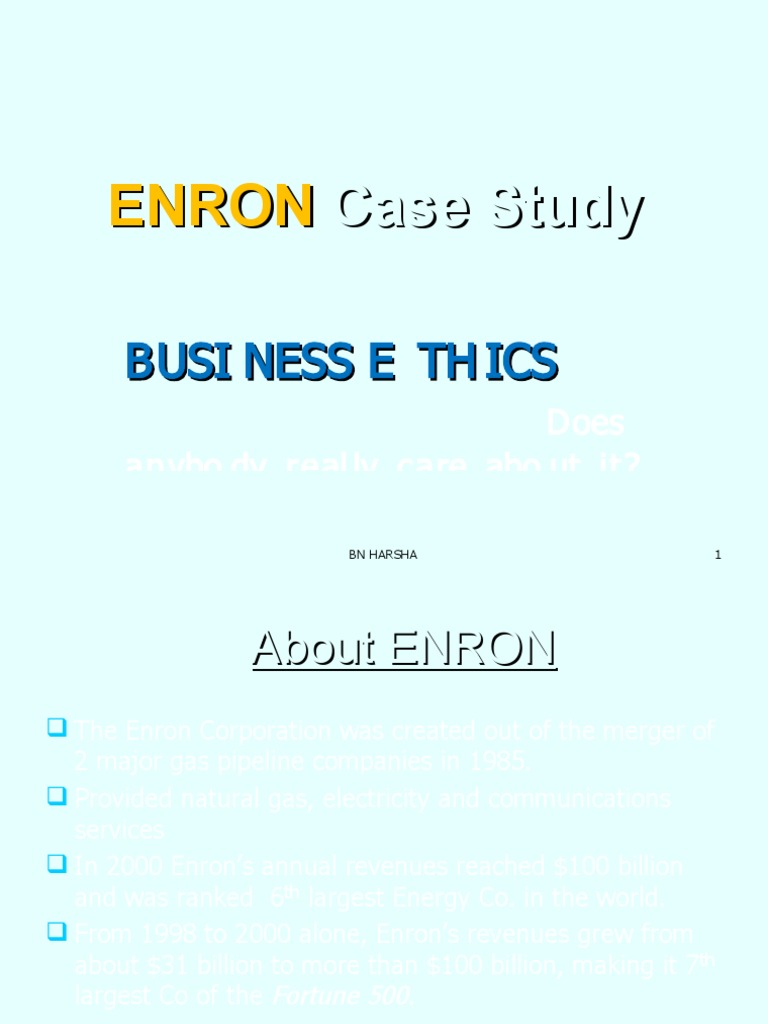 Enron Corporation Case Study Business Ethics: SWOT Analysis