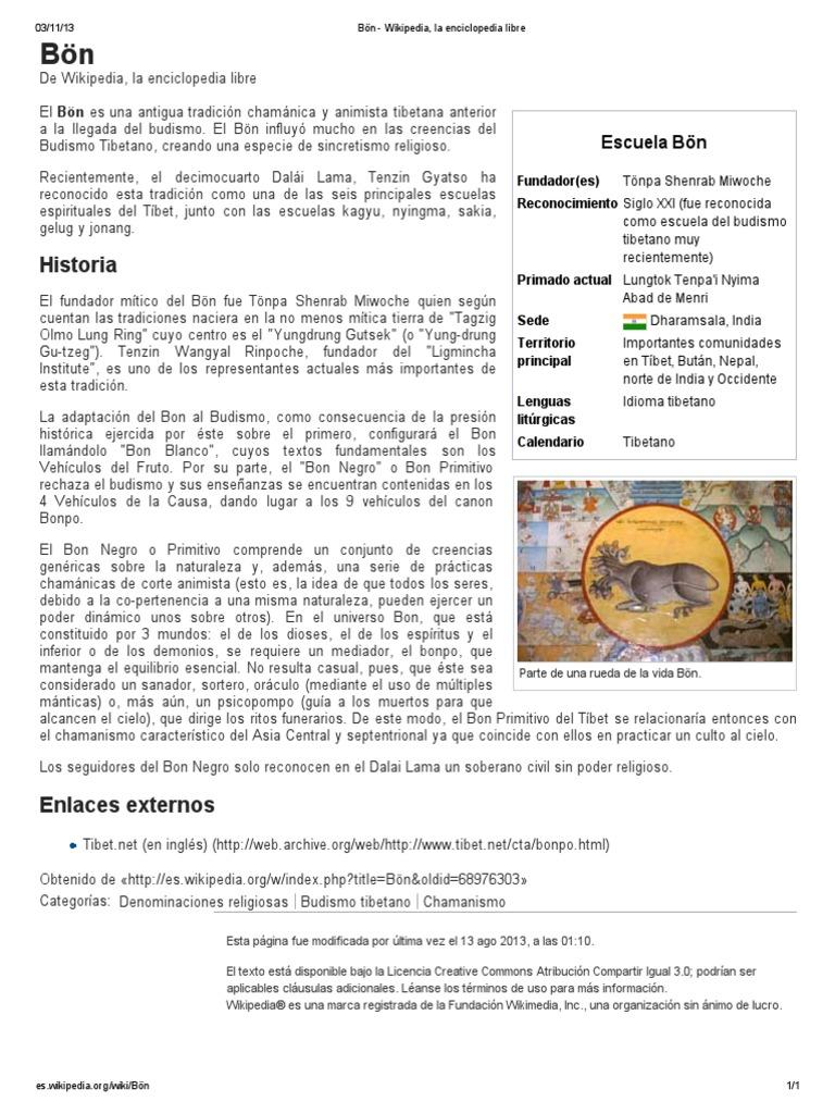 Bön - Wikipedia, la enciclopedia libre