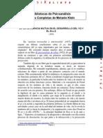 26- La Influencia Mutua en El Desarrollo Del Yo y El Ello 1952