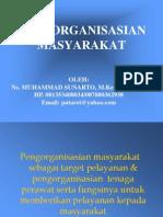 2. Pengorganisasian Masyarakat