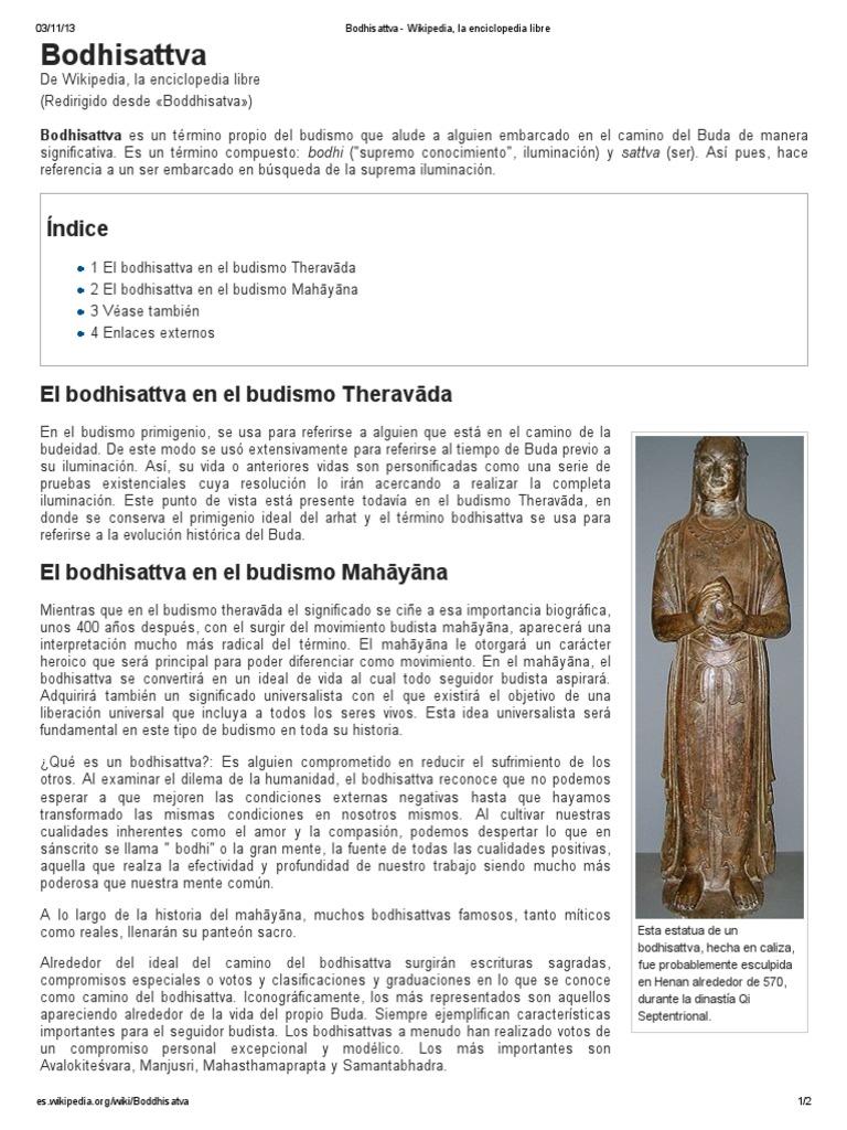 Bodhisattva - Wikipedia, La Enciclopedia Libre