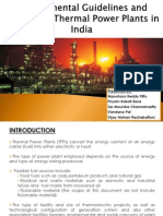 Regulations and guidelines of thermal power plants