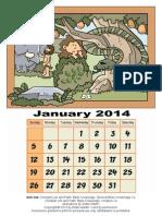 3D Calendar Old Testament January 2014