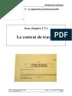 271_Le Contrat de Travail