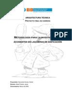Metodología para la Investigación de A.T. en obras