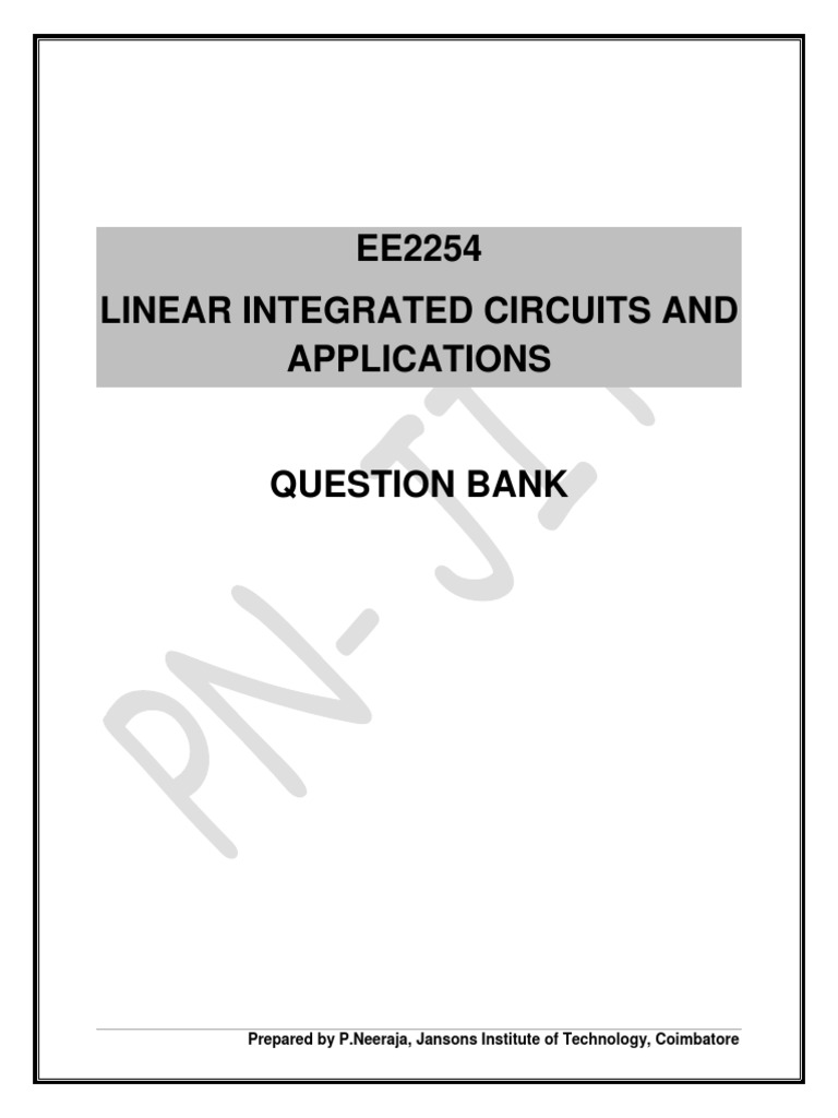 Ee2254 Lica Qb Operational Amplifier Photolithography Low Pass Filter Integrator Circuit Using Op Amp 741 Circuits Gallery