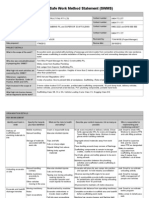 Safe Work Method Statement Template Sample