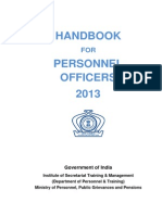 Hand Book for Personnel Officers (2013)
