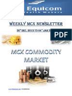 Weekly MCX Newsletter By Theequicom 30-December