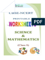08 Maths Science Worksheets Demo