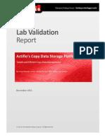 ESG Lab Validation Actifio CDS Nov 2013