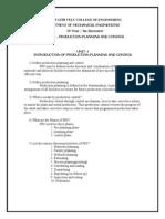 process planning & cost estimation