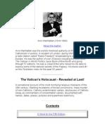 The Vaticans Holocast by Avro Manhattan