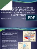 Geochimica acque sotterranee bacino arno
