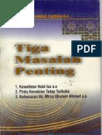 Tiga Masalah Penting-h.mahmud Ahmad Cheema h.a.