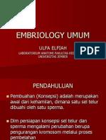 EMBRIOLOGY UMUM