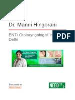 Dr. Manni Hingorani - ENT/ Otolaryngologist in New Delhi
