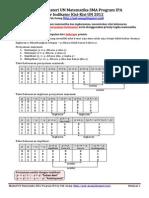 Ringkasan Materi UN Matematika SMA Per Indikator Kisi-Kisi SKL UN 2012