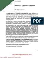 POLITICA EDITORIAL DE LA REVISTA DE EGRESADOS