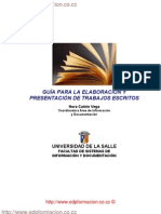 GUÍA PARA LA ELABORACIÓN Y PRESENTACIÓN DE TRABAJOS ESCRITOS / http://www.edpformacion.co.cc