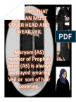 BIBLE SAYS THAT WOMAN MUST COVER HEAD AND WEAR VEIL