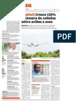 Cresce 135% o número de colisões entre aviões e aves.pdf