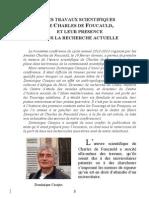 Les travaux scientifiques de Charles de Foucauld, et leur présence dans la recherche actuelle