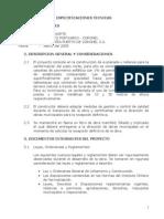 Especificaciones Tecnicas Cancha de Acopio