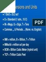Conversions Units