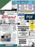 Weekly Reminder December 30, 2013
