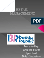 BAskin RobbinsRetail Management Ppt