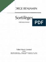 Benjamin, George - Sortil%E8ges (1981) - Piano