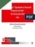 Politica de Desarrollo Industrial