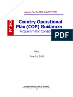PEPFAR Country Operational Plane (COP) Guidance 2010 Programs  |  June 29 2009 Final