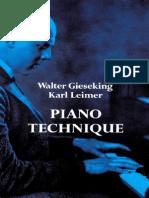 Gieseking & Leimer - Piano Technique