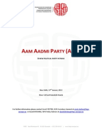 2013.01.22 Aam Aadmi Party Profile